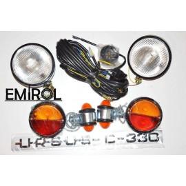 Zestaw lamp metalowych, instalacja elektryczna + naklejki URSUS C330