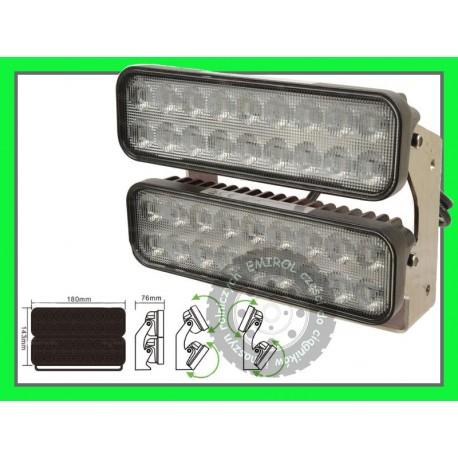 Lampa robocza halogen panel LED listwa podwójna 4300 Lumenów 12,24V