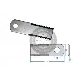 Nóż sieczkarni ząbkowany ruchomy Claas 065294