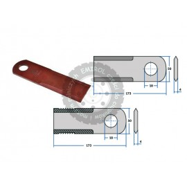 Nóż sieczkarni gładki ruchomy Claas Compact Consul Lexion Mercator 060017